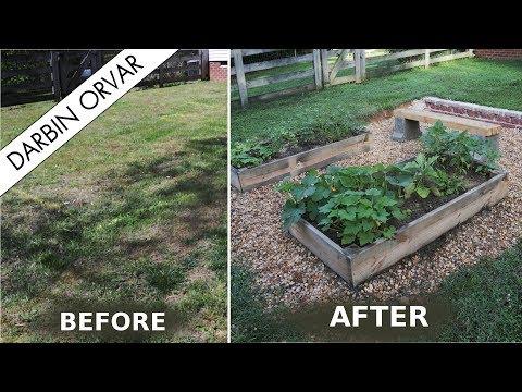 DIY Garden - Building Retaining Wall & Raised Garden Beds