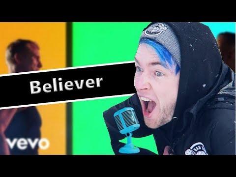 DanTDM Sings Believer By Imagine Dragons