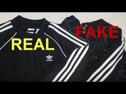 Real vs. Fake Adidas zip up jacket. How to spot original Adidas superstar hoodies.