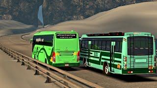 SETC Maruti Bus on Slippery Ice Road Chasing SETC Volvo bus | ETS2 | indian bus mod