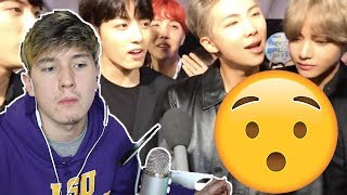 Guys... BTS Singing 'DNA' Without Autotune (REAL VOICE) 방탄소년단 AMA's 2017 REACTION