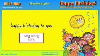 Kidzone - Happy Birthday To You!