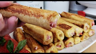 French Toast Roll Ups | French Toast Breakfast Ideas | Breakfast Ideas For Kids