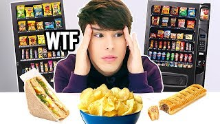i only ate VENDING MACHINE FOODS for 24 hours !!!