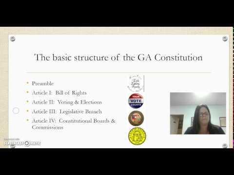 Homework for Georgia Constitution
