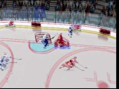 NHL Breakaway 98 Detroit Red wings vs Toronto Maple Leafs (Nintendo 64)