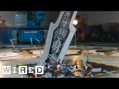 Giant Star Wars LEGO Super Star Destroyer Shattered at 1000 fps | Battle Damage