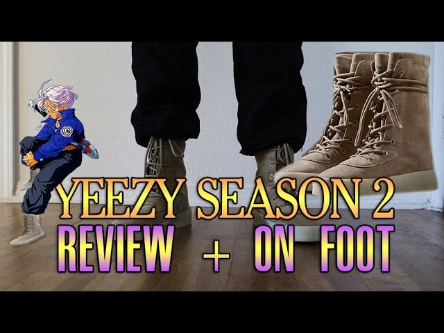 7fcc70471 Video YEEZY SEASON 2 CREPE BOOT REVIEW + ON FEET! DBZ SHOES