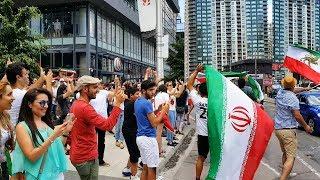 2018 World Cup | Iranian Fans Celebrate win over Morocco (جشن پیروزی بعد از بازی ایران-مراکش)