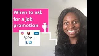When to ask for a job promotion