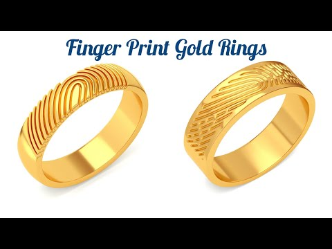 Finger print gold rings for both men and women