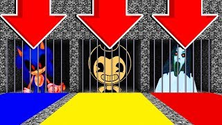 DO NOT CHOOSE THE WRONG PRISON! (SONIC.EXE, BENDY,SLENDRINA)(Ps3/Xbox360/PS4/XboxOne/PE/MCPE)