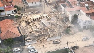 Brazil building collapse: Seven-storey block crashes down in Fortaleza