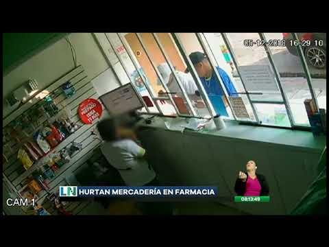 Cámaras de seguridad captan el robo a una farmacia