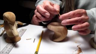 Laurie J McNeil  Decorative Wood Duck Drake Head  Pin System Demo  Part Two