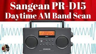 Sangean PR-D15 Portable Radio | Daytime AM Band Scan