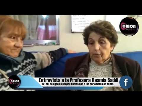 Entrevista a la Profesora Rasmia Saddi.
