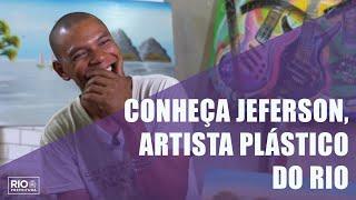 Boas histórias: Jeferson, acolhido pela Prefeitura, mostra talento na arte