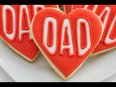 How To Decorate Heart Father's Day Cookies