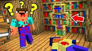 ЭТОТ МАНЬЯК НУБ НЕ ПОНИМАЕТ ГДЕ Я, СКИН КНИЖНОЙ ПОЛКИ ДАЁТ НЕВИДИМОСТЬ - Minecraft Murder Mystery