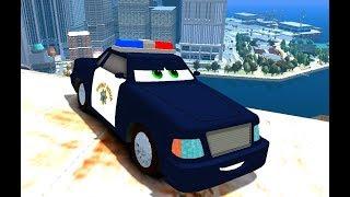Полицейская погоня, мультики про машинки. Машины для детей, гонка за антидот,мультик про машинка