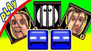 БолтушкА и ПРоХоДиМеЦ в Ловушке, Хитрые КВАДРАТЫ всех Сажают в КЛЕТКИ! #77 Игра для Детей - Blosics
