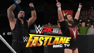 WWE 2K16: Roman Reigns vs Daniel Bryan - Fastlane 2015 Highlights