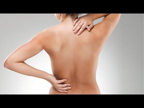 Der Schmerz in der Lende unten links der Muskel