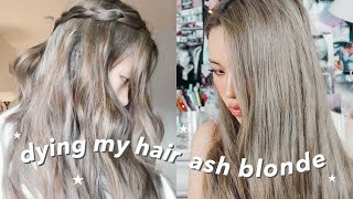 Dying My Hair Dark Ash Blonde / Light Brown At Home! (part 2)