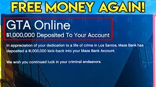 GTA Online - Rockstar Giving FREE Money Again to Player Randomly + What It Means