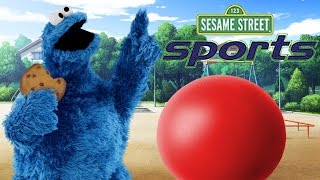 Sesame Street Sports Cookie Monster's Bouncy Ball PS1 Game Gameplay
