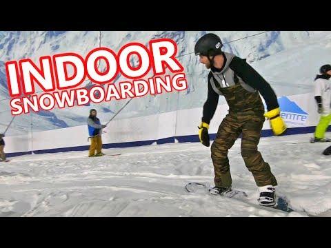 FIRST EVER INDOOR SNOWBOARDING + TRAVEL VLOG