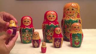 Matryoshka Dolls Stacking Dolls Surprise, Guess How Many Dolls There Are?
