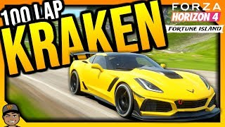 Forza Horizon 4 Live: 100 Lap Kraken In The 2019 Chevrolet Corvette ZR1! *No Stopping!!!*