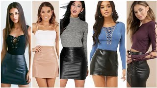 40+ideas Of Leather Mini Pencil Skirts Outfits For Impressive Girls