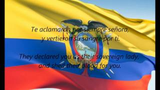 "Ecuadorian National Anthem - ""Salve, Oh Patria"" (ES/EN)"