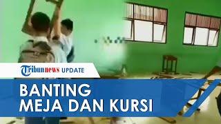 POPULER: Viral Video Siswa SMK di Sigli Ngamuk dan Hancurkan Meja serta Kursi