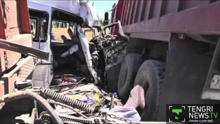 13 человек погибли в ДТП на трассе Алматы-Шымкент