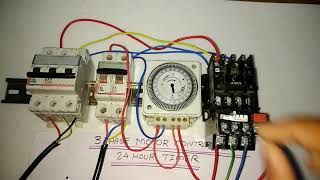 DOL STARTER CONTROL WITH STREET LIGHT TIMER