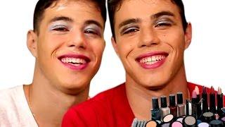 Desafio: Maquiagem   Canal Brothers Rocha Oficial