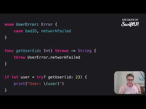 How to handle function failure with optionals – Swift for Complete Beginners thumbnail