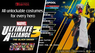Marvel Ultimate Alliance 3 | All Unlockable Costumes for All Characters