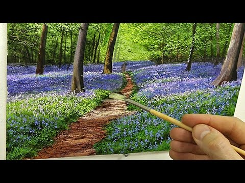#84 How To Paint Bluebells | Oil Painting Tutorial