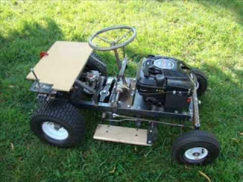 Tractor cortadora de cesped
