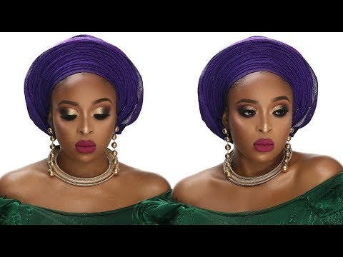 NIGERIAN TRADITIONAL BRIDAL/WEDDING MAKEUP TUTORIAL