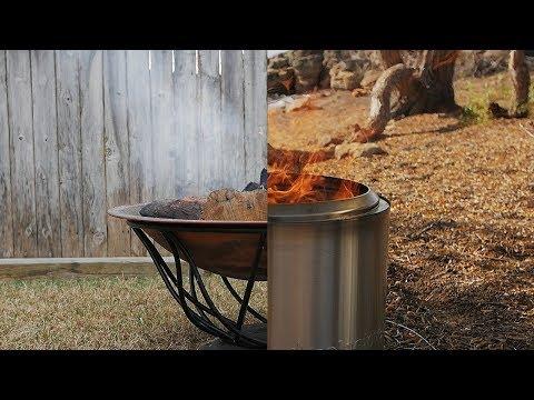 Less Smoke with Solo Stove Bonfire