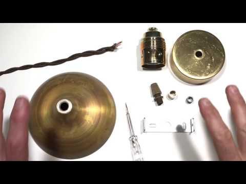 Cómo montar una lámpara colgante