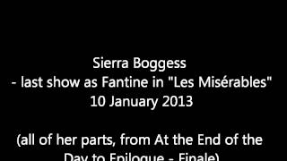 "Sierra Boggess - last show as Fantine in ""Les Misérables"""