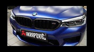 Выхлоп за миллион, установка первого eisenmann и akrapovic в России на BMW M5 F90
