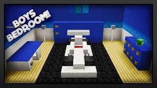 Minecraft - How To Make A Boys Bedroom